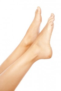 Dauerhaft enthaarte Beine
