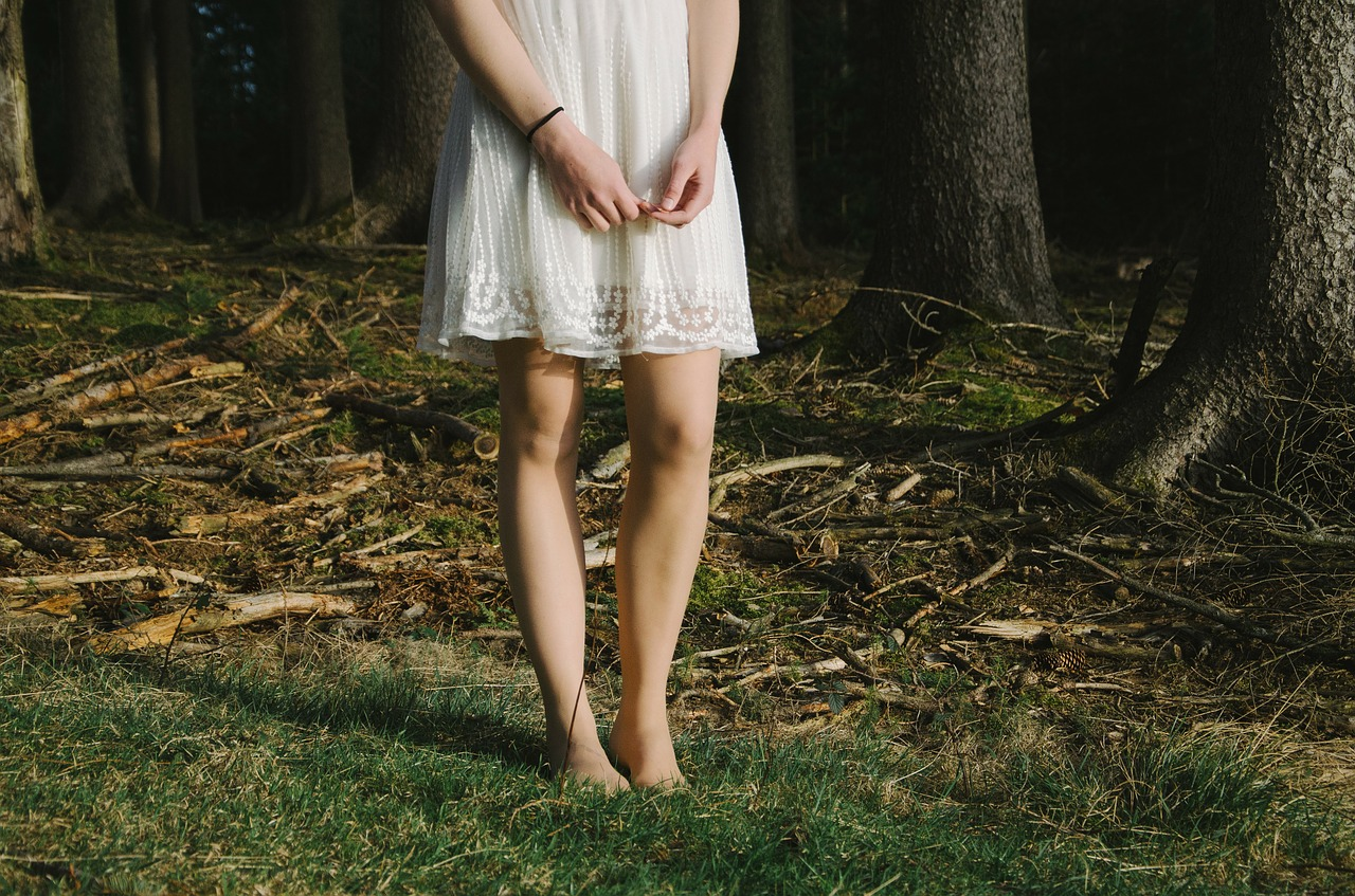 Enthaarte Beine