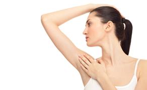 Frauenachsel nach Laserhaarentfernung bei Dermacare Wien