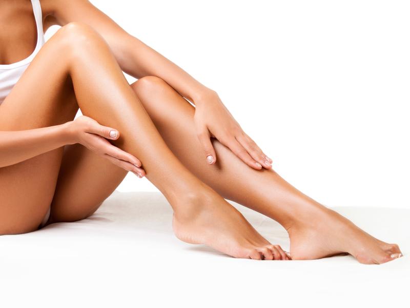 Rasierte Beine einer Frau